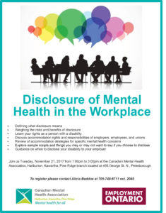 Disclosure of Mental Health in the Workplace Poster