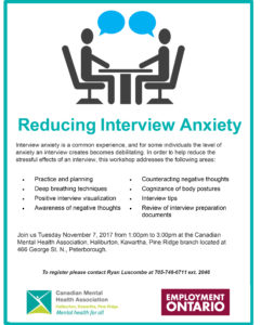 Reducing Interview Anxiety Poster