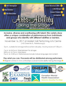 Arts-Ability Taking the Stage poster