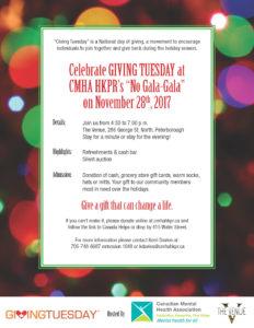 GivingTuesday, No Gala-Gala poster