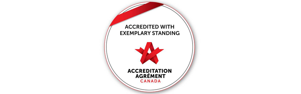 Accredited with Exemplary Standing badge