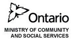 Ontario Ministry of Community and Social Services logo