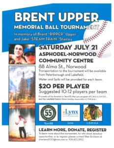 Brent Upper Memorial Ball Tournament Poster