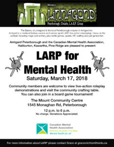 LARP for Mental Health poster