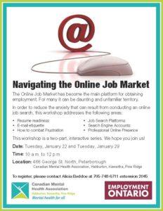 Navigating the Online Job Market workshop poster