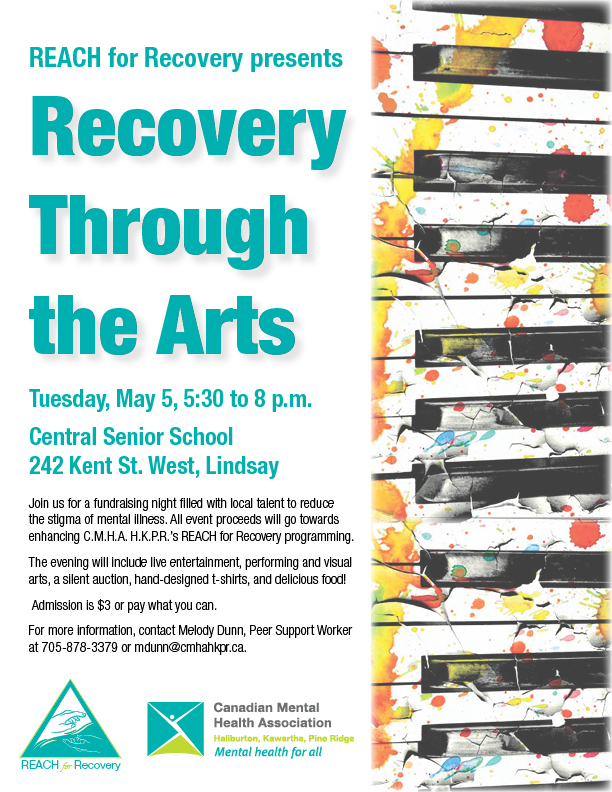 Recovery Through the Arts poster