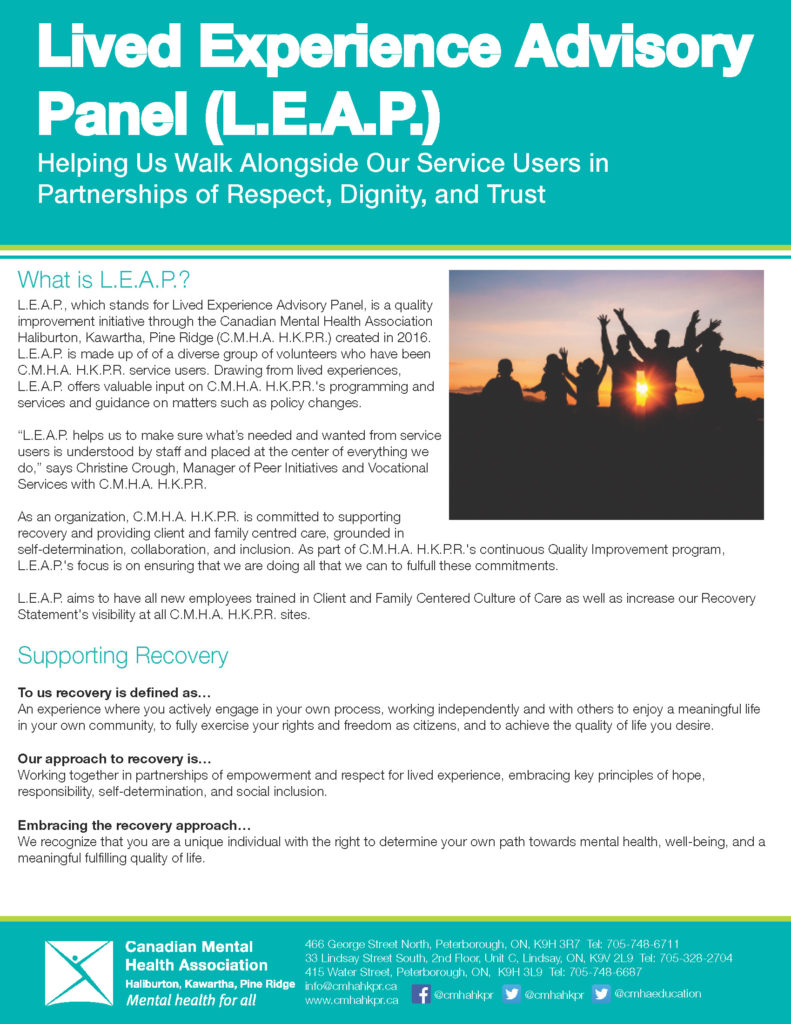 L.E.A.P. newsletter page one
