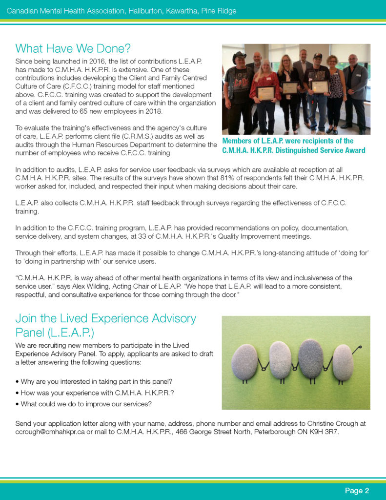 L.E.A.P. newsletter page 2