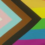 Inclusive pride flag banner